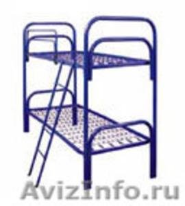 одноярусные металлические кровати для интернатов, двухъярусные кровати оптом - Изображение #2, Объявление #695584
