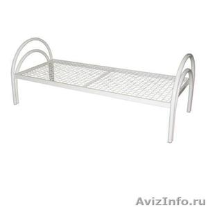 одноярусные металлические кровати для интернатов, двухъярусные кровати оптом - Изображение #3, Объявление #695584