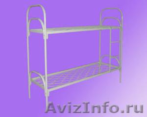 одноярусные металлические кровати для интернатов, двухъярусные кровати оптом - Изображение #1, Объявление #695584
