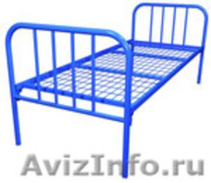 одноярусные металлические кровати для интернатов, двухъярусные кровати оптом - Изображение #4, Объявление #695584